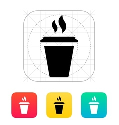 Plastic cup icon vector