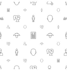 profile icons pattern seamless white background vector image