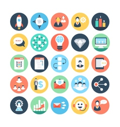 Project management colored icons 5 vector