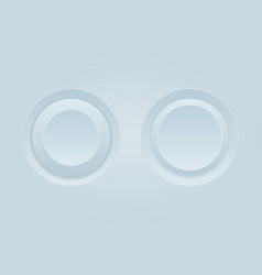 push buttons round white plastic 3d buttons vector image