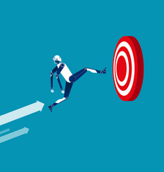 robot and target concept business flat vector image