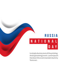 Russia national day template design vector