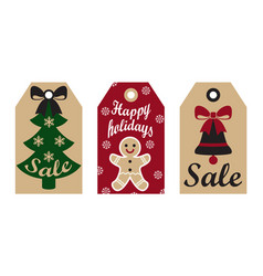 sale happy holidays labels on vector image