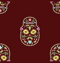 seamless texture skulls flower image vector image