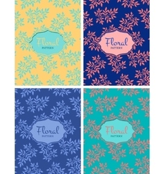 set floral seamless patterns vector image