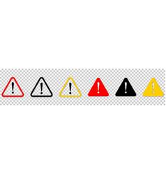Set of warning signs danger warning attention vector
