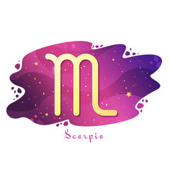 Sign zodiac scorpio vector