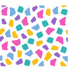 Simple seamless pattern with colorful torn paper vector