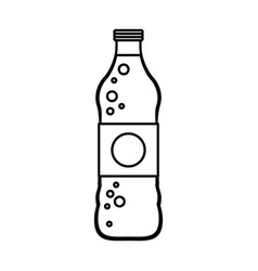 soda bottle with blank label icon image vector image