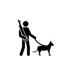 soldier dog gun canine icon can be used for web vector image