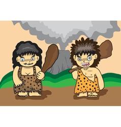 stone age cartoon vector image
