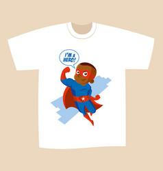 superhero cartoon character vector image