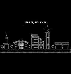 tel aviv silhouette skyline israel - tel aviv vector image