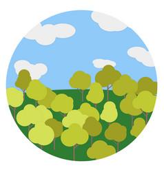 the autumn landscape tree sky vector image