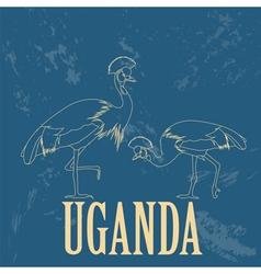 Uganda Africa Retro styled image vector