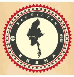 Vintage label-sticker cards myanmar vector