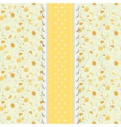 Vintage yellow wedding card vector image vector image