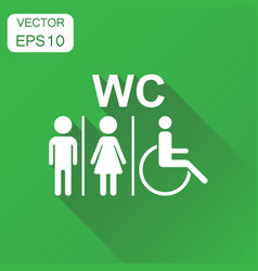 Wc toilet icon business concept men and women vector