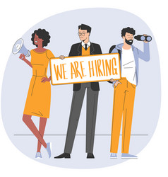 We are hiring concept vector