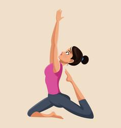 woman make yoga exercise image vector image