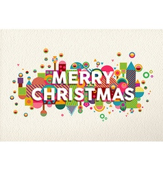Merry christmas colorful fun geometry environment vector image vector image