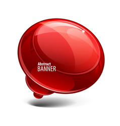 red glossy glossy banners vector image