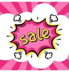 Sale comic speech bubble background in cartoon vector image vector image
