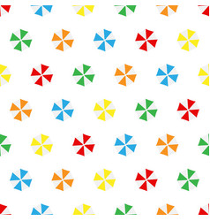 seamless pattern summer beach different colors vector image vector image