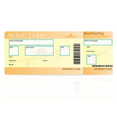 airline ticket 04 vector image