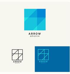 arrow trendy minimalistic template design for vector image