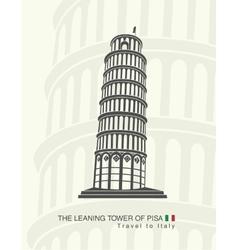 Figure leaning tower of pisa vector