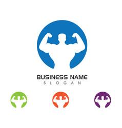 gym badge fitness logo design vector image