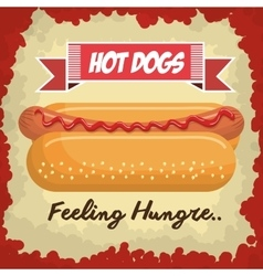 hot dog isolated icon design vector image