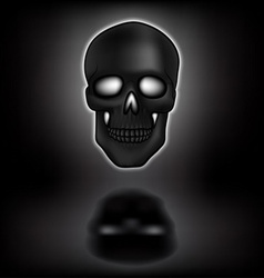 skull with shadow vector image vector image