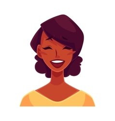 African girl face laughing facial expression vector image vector image