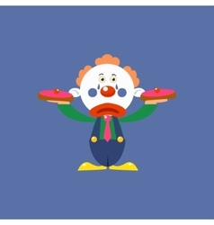 Clown With Pies vector image vector image