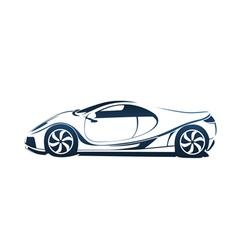 Speedy racing sport car vector image