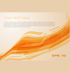 abstract wave rectangle background in orange color vector image vector image