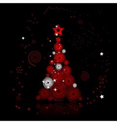 Christmas tree beautiful vector image vector image