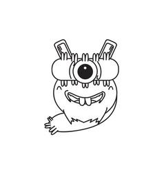 design character one eye monster vector image vector image