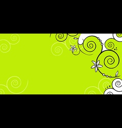 floral background green vector image vector image