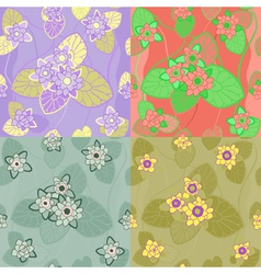 floral combinations seamless vector image vector image