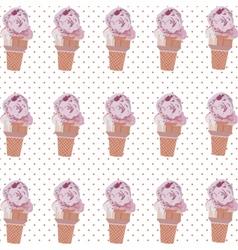 Ice cream cone pattern vector image
