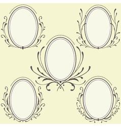 Oval Floral frames ornament vector image vector image