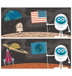 Space Scenes vector image vector image