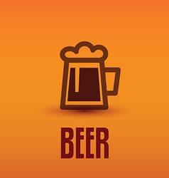 traditional beer cup symbol vector image vector image