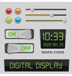 user interface design elements vector image