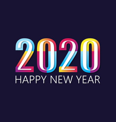 2020 happy new year insta color banner vector image