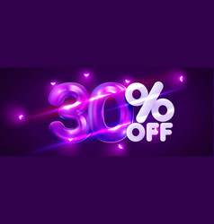 30 percent off discount creative composition 3d vector