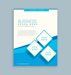 Abstract business brochure design in blue white vector